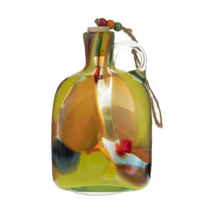 بطری شیشه ای مدل رنگارنگ