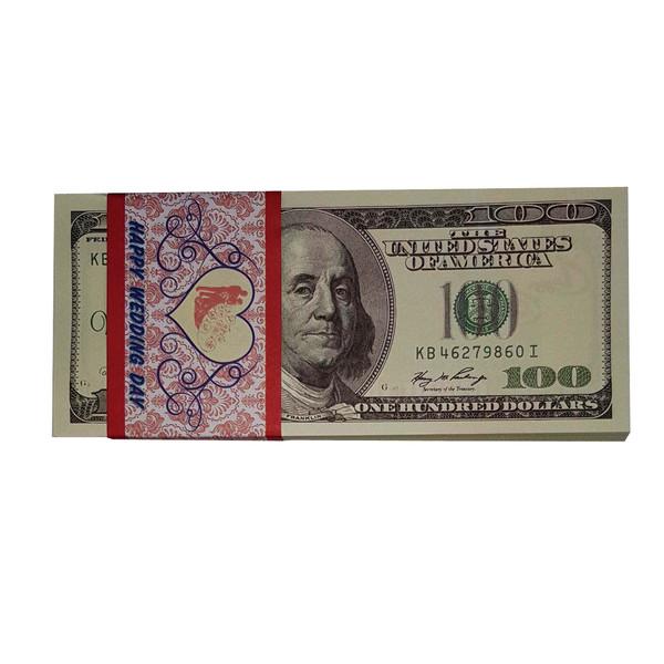 ابزار شوخی دنیای سرگرمی های کمیاب مدل اسکناس طرح 100 دلاری بسته 100 عددی