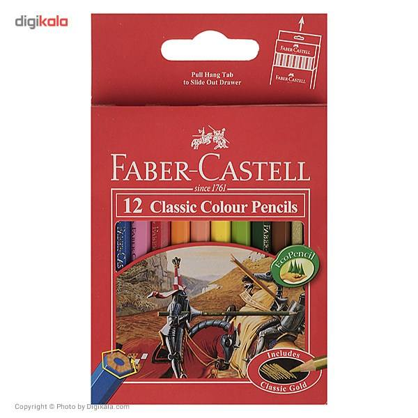 مداد رنگی 12 رنگ فابر-کاستل مدل Classic main 1 1
