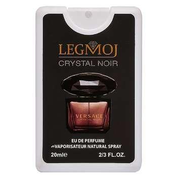 عطر جیبی زنانه لگموج مدل Versace Crystal Noir حجم 20 میلی لیتر