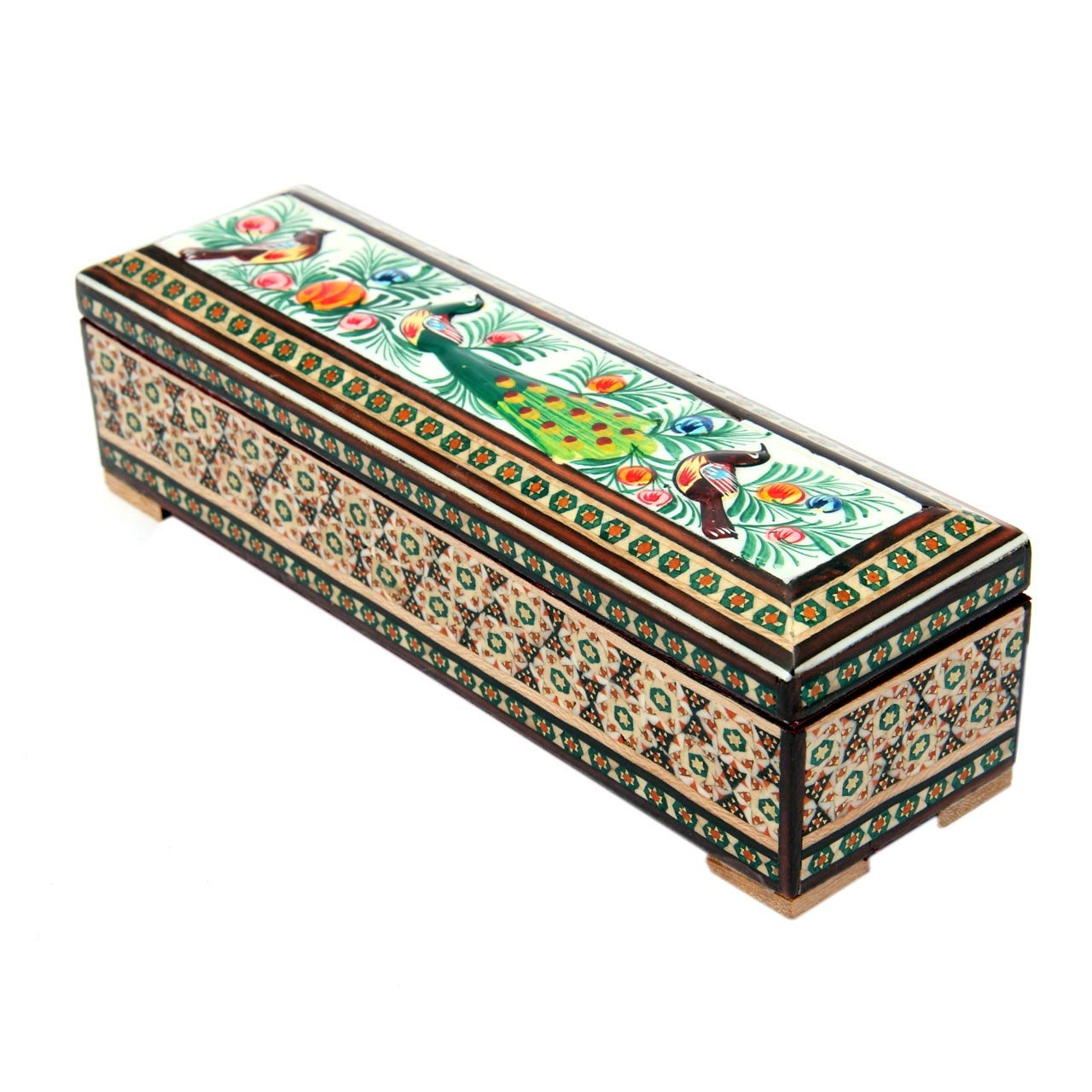 Inlay handicraft watch box of Market Land, code MKH96