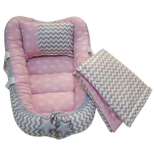 سرویس سه تکه خواب نوزادی آویراد طرح تاج کد Atpink0002