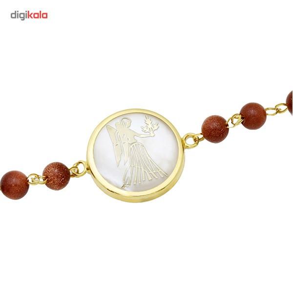 دستبند طلا 18 عیار ماهک مدل MB0126