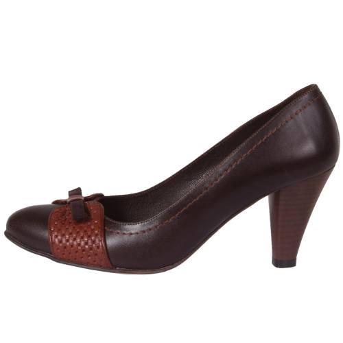 کفش چرم زنانه  شهرچرم مدل 3-296135