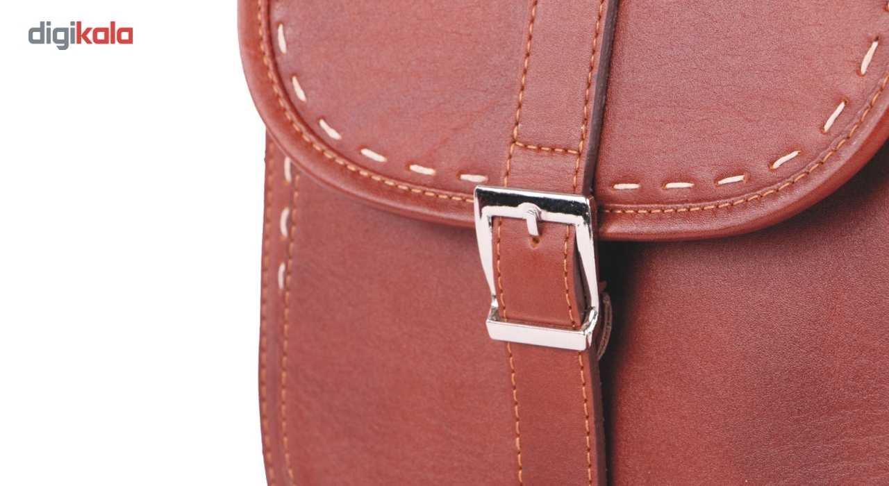 کیف دوشی چرم ما مدل سرخپوستی کد 01