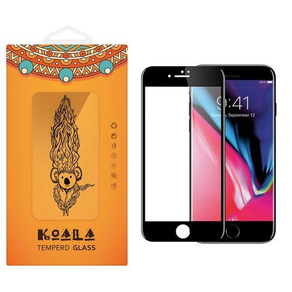 محافظ صفحه نمایش شیشه ای کوالا مدل Full Cover مناسب برای گوشی موبایل اپل آیفون8