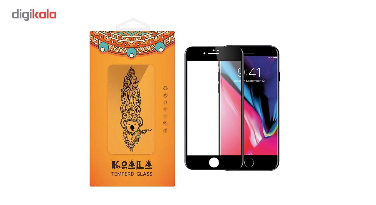 محافظ صفحه نمایش شیشه ای کوالا مدل Full Cover مناسب برای گوشی موبایل اپل آیفون8 main 1 1