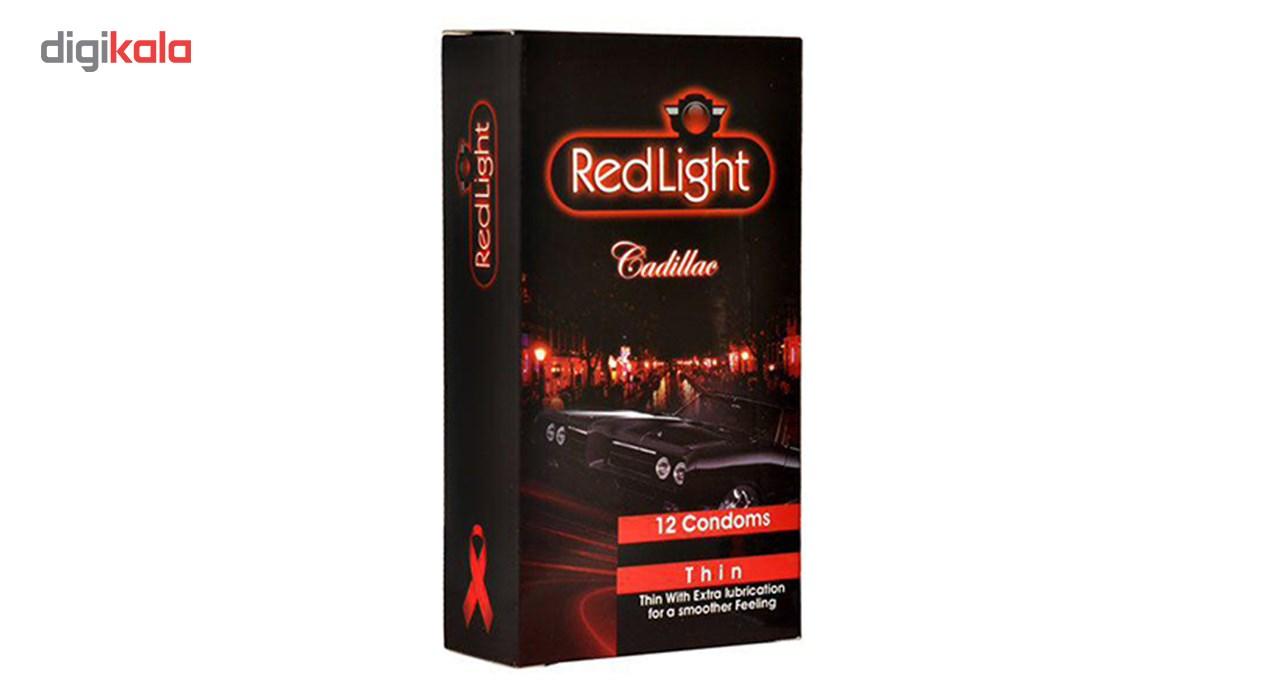 کاندوم کلاسیک ردلایت مدل Cadillac بسته 12 عددی