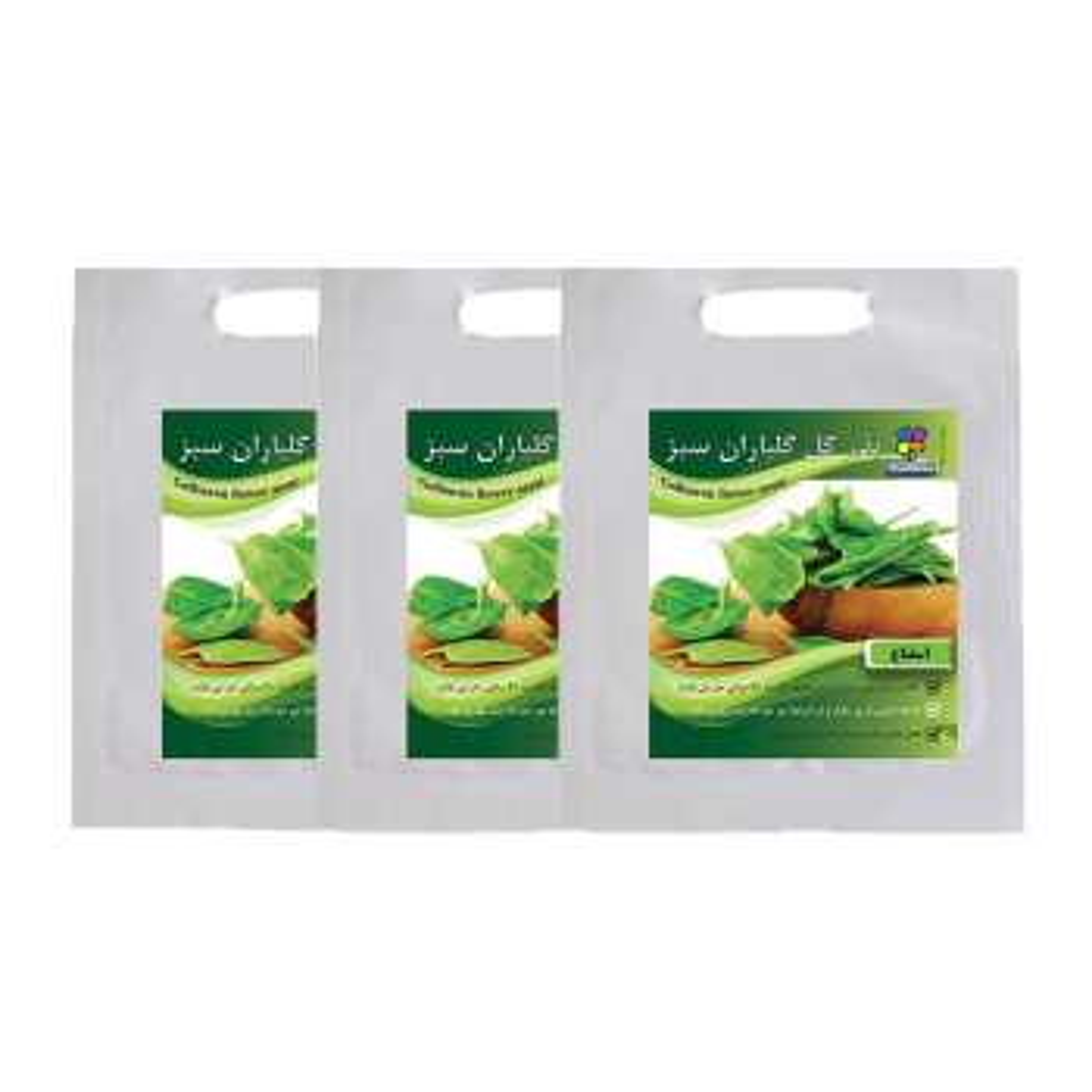 مجموعه بذر اسفناج گلباران سبز بسته 3 عددی