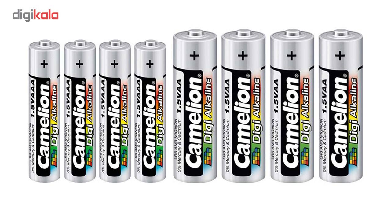 باتری کملیون مدل Digi Alkaline بسته 8 عددی به همراه یک چراغ قوه main 1 2