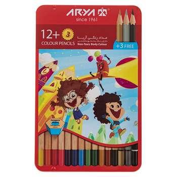مداد رنگی 12 رنگ آریا مدل 3021