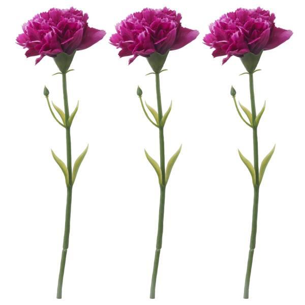 گل مصنوعی ایکیا طرح میخک مدل Smycka مجموعه 3 عددی