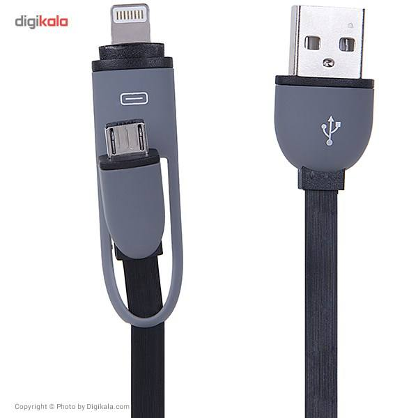 کابل تبدیل USB به microUSB/لایتنینگ مدل Full Speed طول 1 متر main 1 2