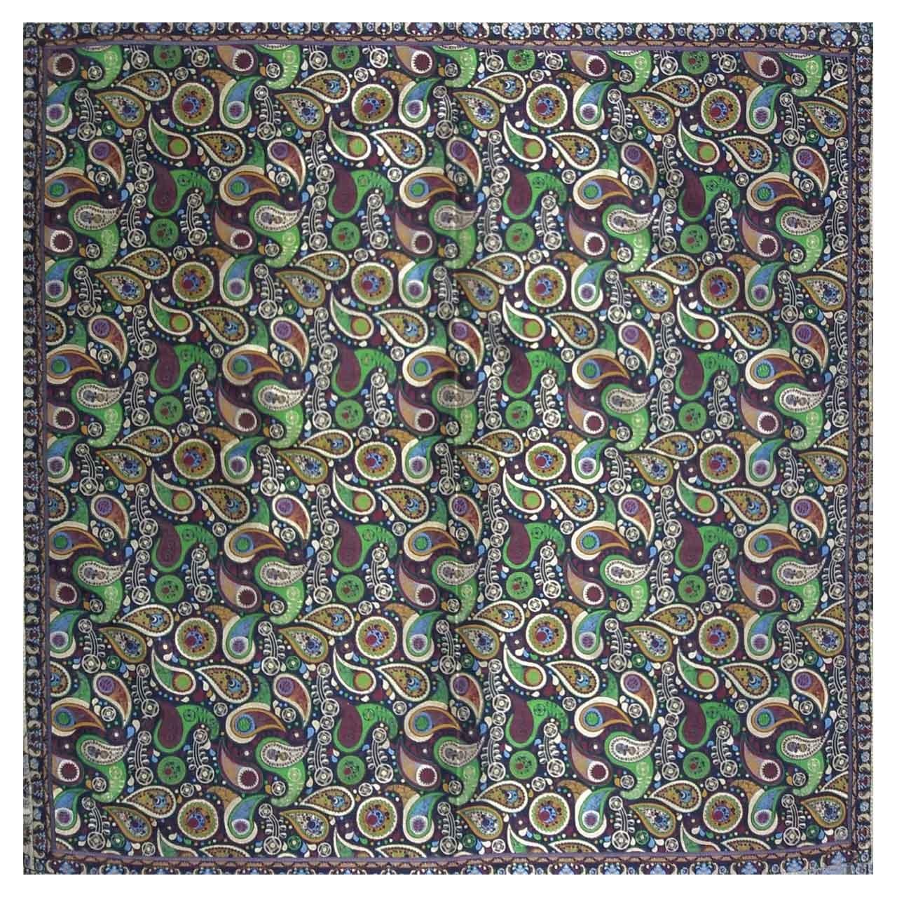 رومیزی ترمه ابریشمی کد 2009 سایز 100 × 100 سانتی متر