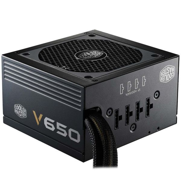 منبع تغذیه کامپیوتر نیمه-ماژولار کولر مستر مدل V650