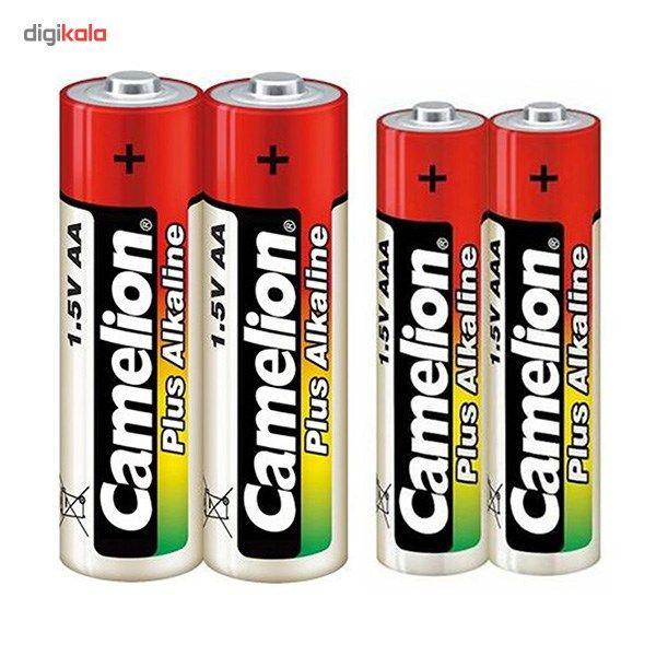 باتری قلمی و نیم قلمی کملیون مدل Plus Alkaline بسته 4 عددی main 1 1