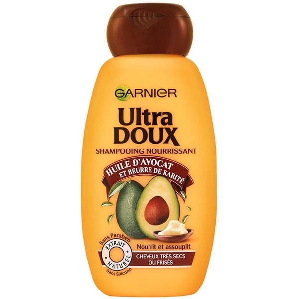 شامپو لطیف کننده و تغذیه کننده گارنیه سری Ultra Doux مدل Avocado حجم 400 میلی لیتر