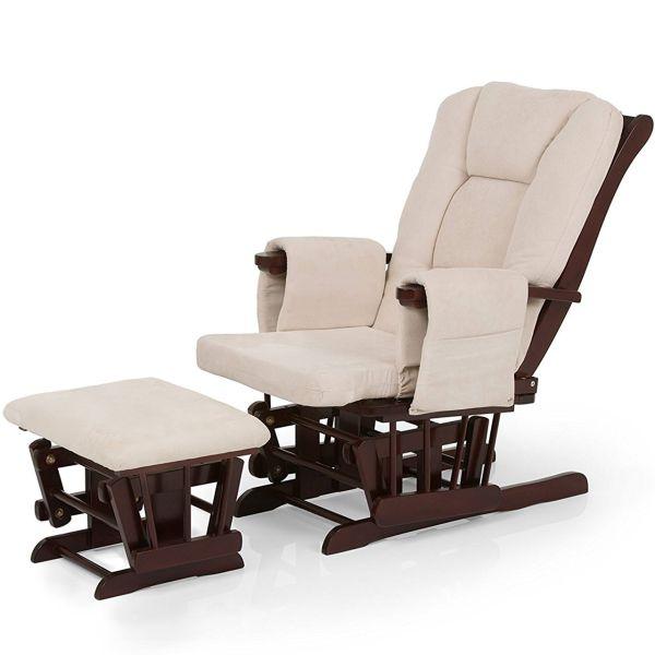 صندلی استراحت مادر هاوک مدل Glider Deluxe Recline Walnut Beige