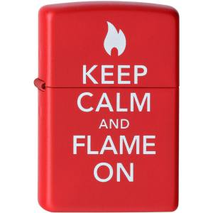 فندک زیپو مدل Keep Calm And Flame کد 28671