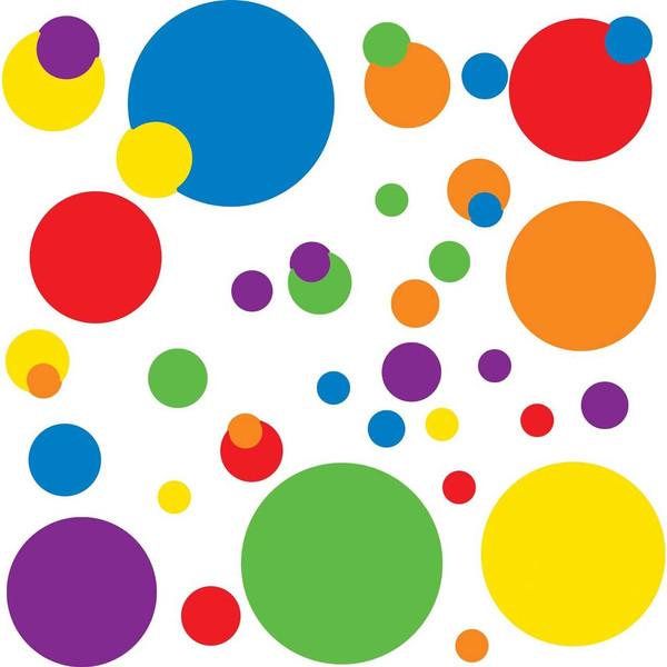 استیکر رومیت مدل Just Dots Primary Peel And Stick Wall Decals