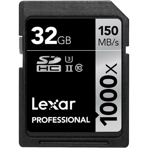 کارت حافظه SDHC لکسار مدل Professional کلاس 10 استاندارد UHS-II U3 سرعت 150MBps 1000X ظرفیت 32 گیگابایت