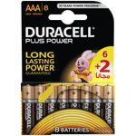باتری نیم قلمی دوراسل مدل Plus Power بسته 6 + 2 عددی thumb