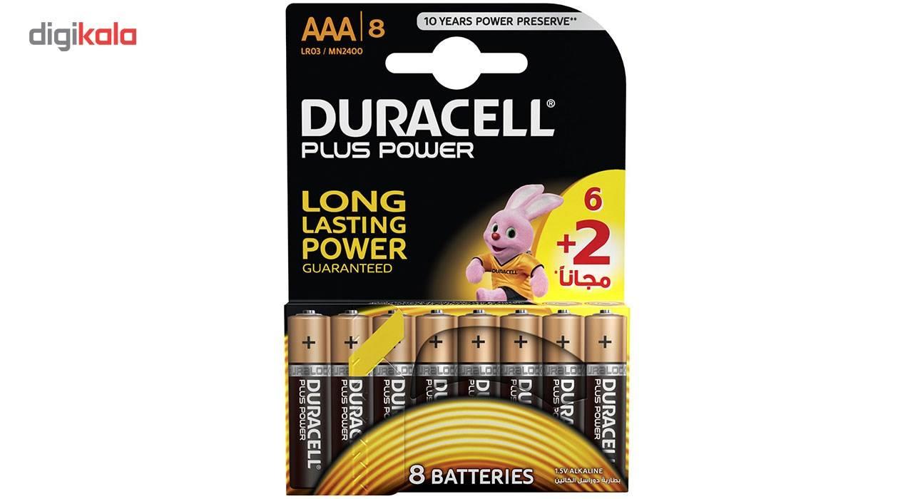باتری نیم قلمی دوراسل مدل Plus Power بسته 6 + 2 عددی main 1 1