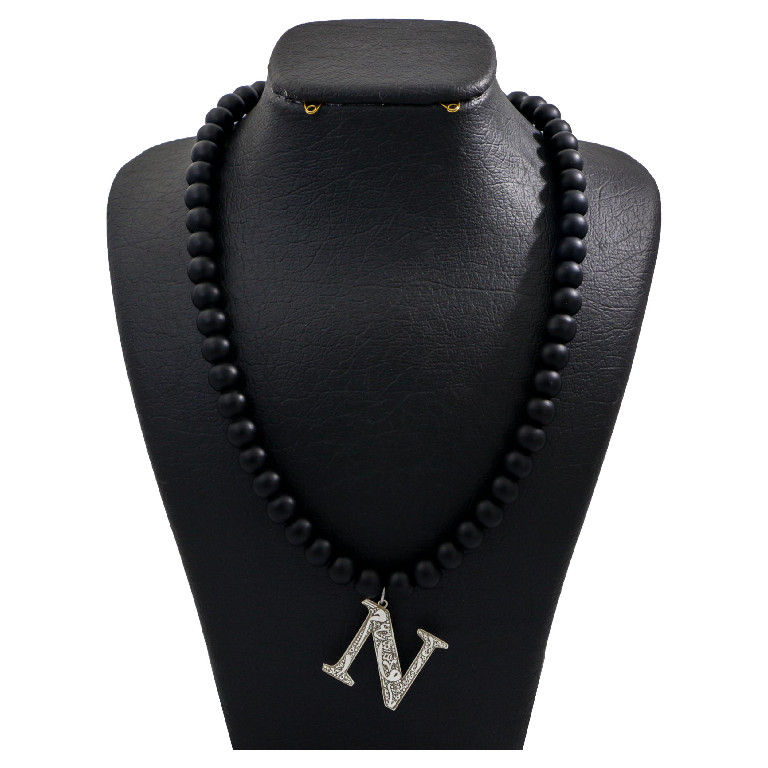 گردنبند نقره زنانه دلی جم طرح N کد D 247