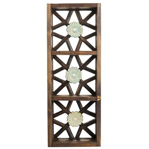 قفسه چوبی گالری اسعدی طرح سه گل کد 66037