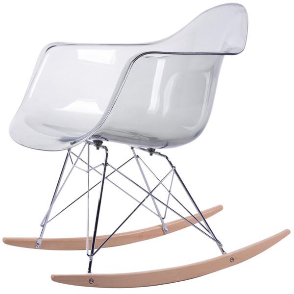 صندلی کروماتیک مدل Transparent Smoke Armrest Rocking Chair
