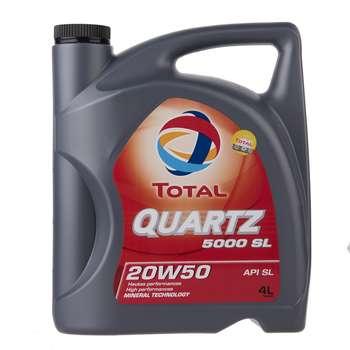 روغن موتور خودرو به توتال مدل Quartz 5000 SL حجم 4 لیتر