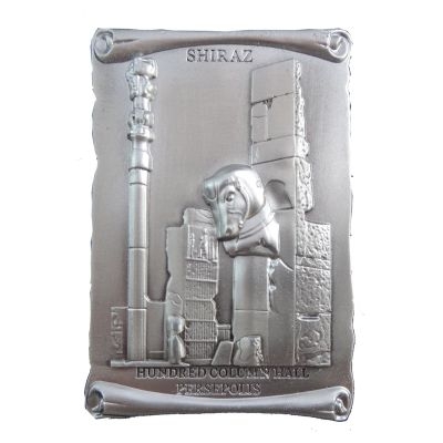 Photo of تابلو حکاکی روی فلز ژاو طرح تالار صد ستون مدل B010