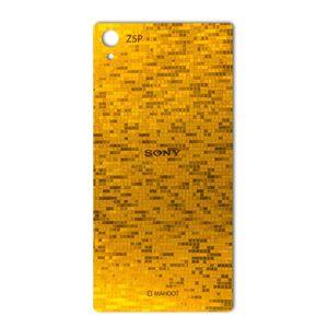 برچسب پوششی ماهوت مدل  Gold-pixel Special مناسب برای گوشی Sony Xperia Z5 Premium