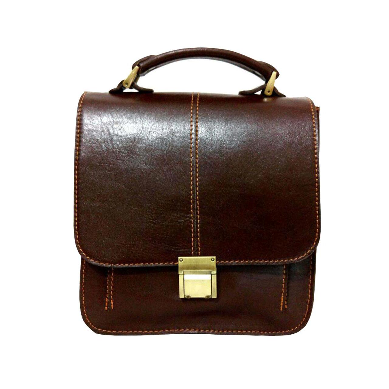 کیف دوشی چرم طبیعی زانکو چرم کد KM-501