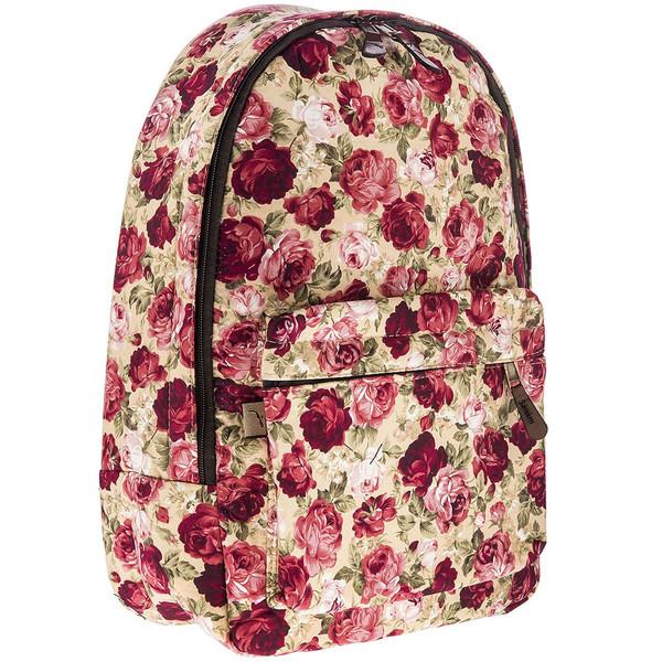کوله پشتی پارچه ای گالری صنم طرح گل رز زمینه کرم