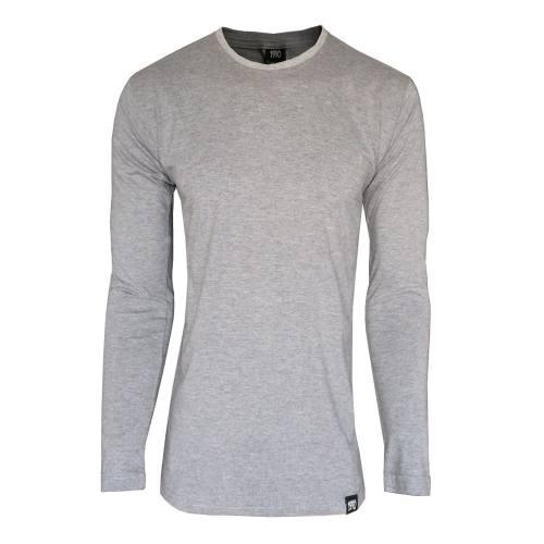 تی شرت آستین بلند مردانه 1991 اس دبلیو مدل Gray 001