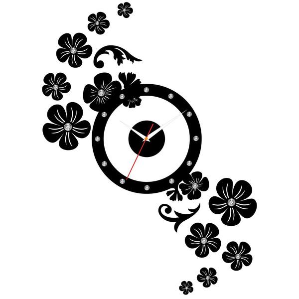 ساعت دیواری پدیده شاپ طرح یاسمین