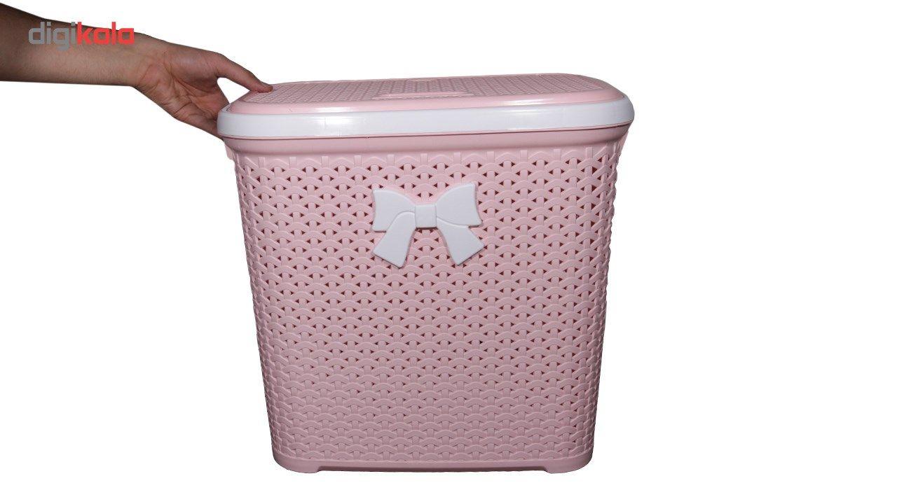سبد لباس بروفه مدل Pink main 1 5