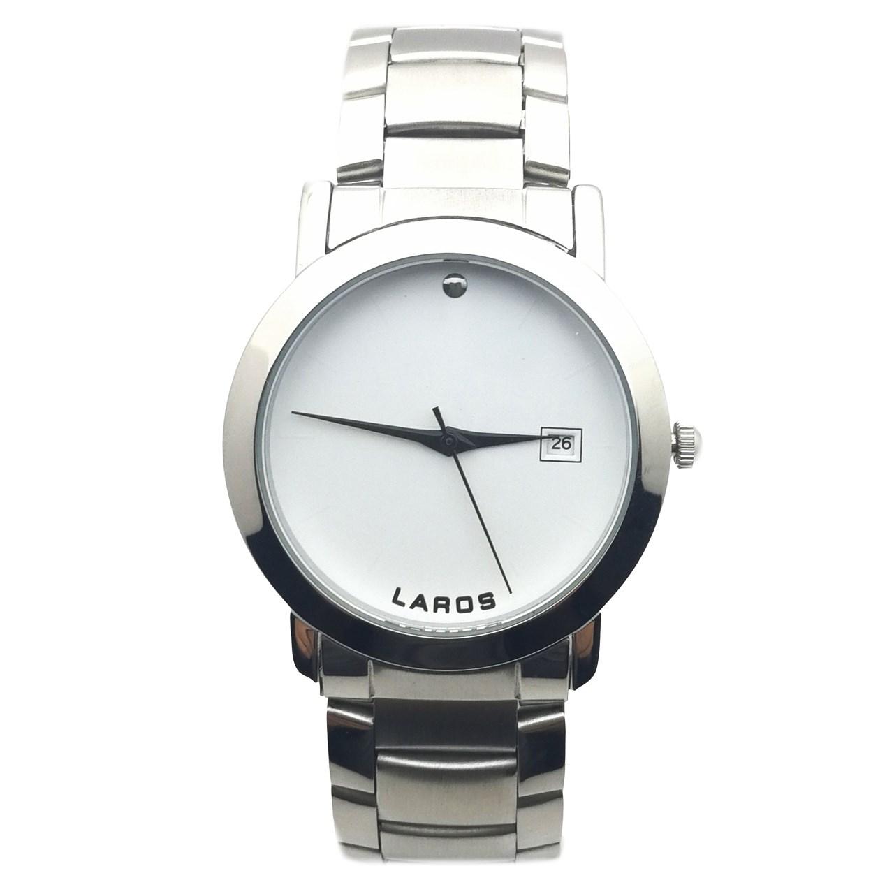 ساعت مچی عقربه ای مردانه لاروس مدل LM-N609-White 42
