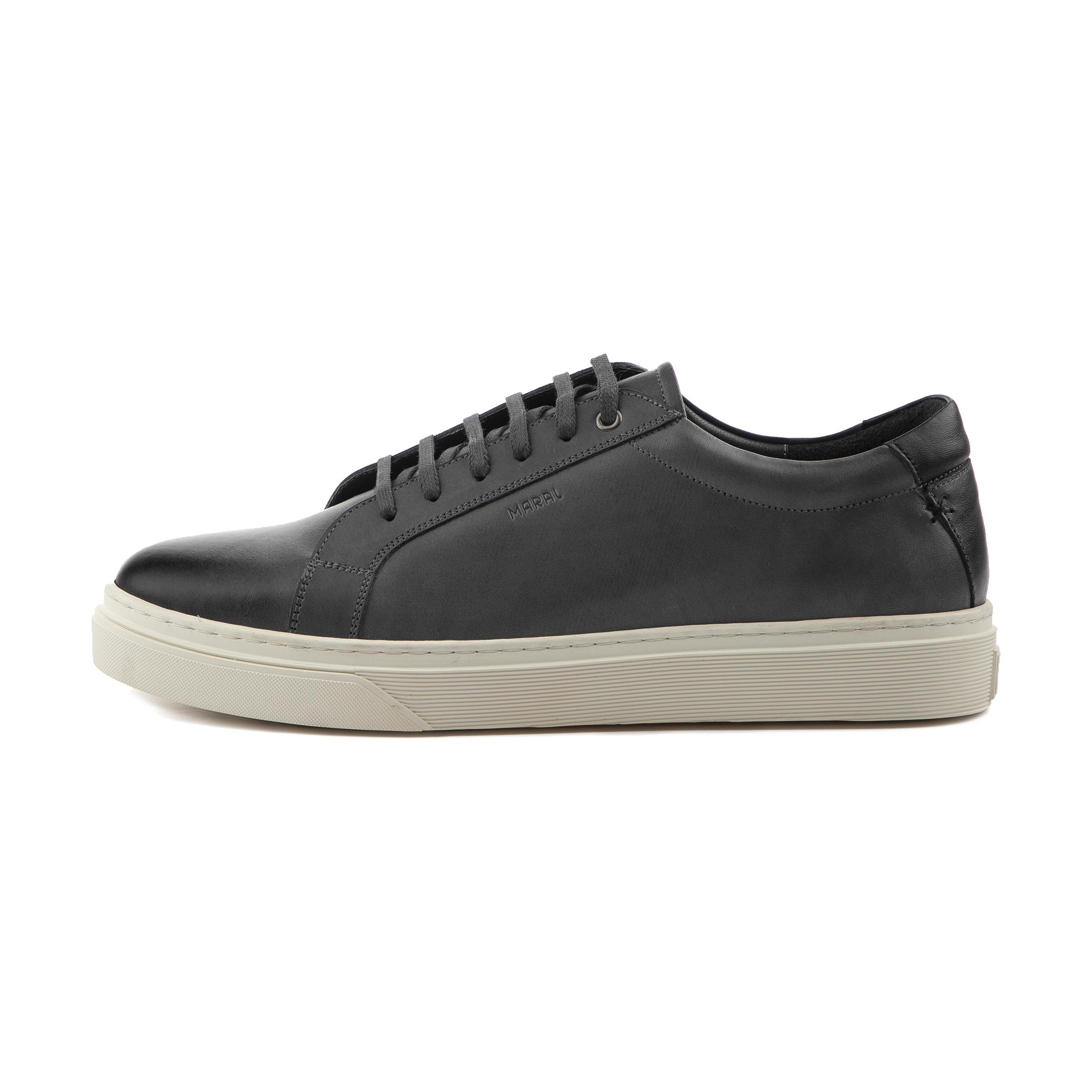 کفش روزمره مردانه مارال چرم مدل آلبرتو cab-Gray