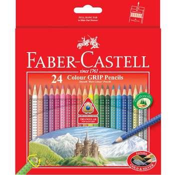 مداد رنگی 24 رنگ فابر-کاستل مدل Colour Grip