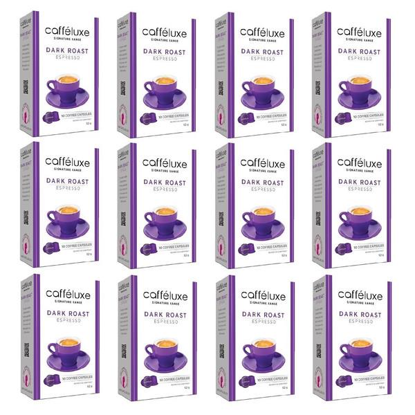کپسول قهوه نسپرسو کافه لوکس مدل  Espresso Dark Roast- مجموعه 12  جعبه