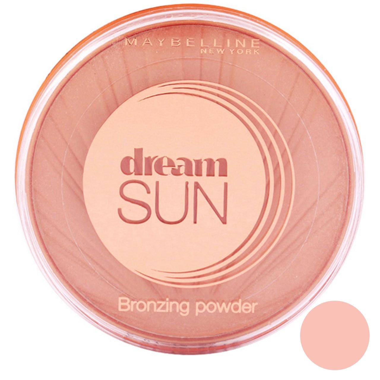 پودر برنز کننده میبلین سری Dream Sun مدل Golden شماره 02