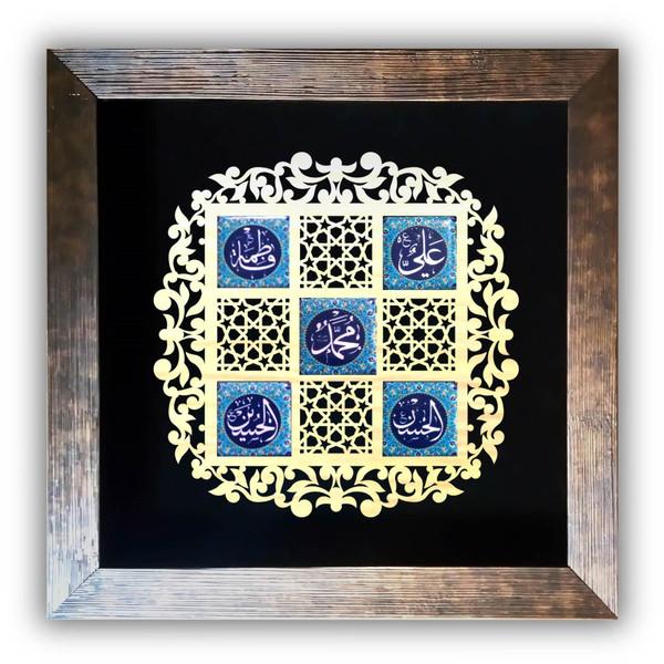 تابلو معرق کاشی آفتاب شب مدل پنج تن آل عبا