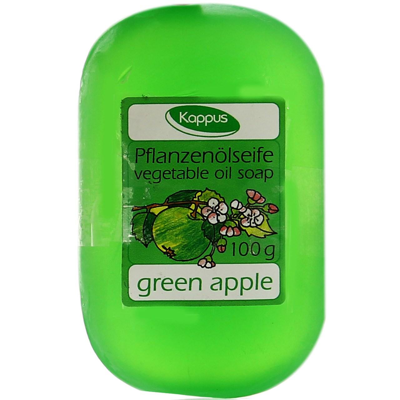قیمت صابون گلیسرینه میوهای کاپوس مدل Green Apple مقدار 100 گرم