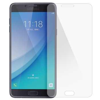 محافظ صفحه نمایش شیشه ای تمپرد مناسب برای گوشی موبایل سامسونگ Galaxy C7 2017/C8 2017