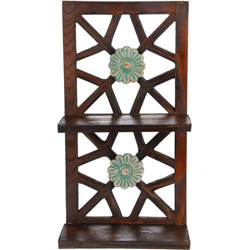 طبقه چوبی گالری اسعدی طرح دو گل کد 26029