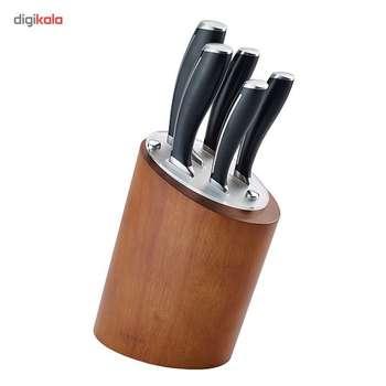 ست چاقوی آشپزخانه استیل پایه دار 6 پارچه  کارال مدل روما