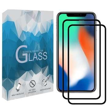 محافظ صفحه نمايش مدل FCRMP مناسب برای گوشی موبايل اپل iPhone X / XS مجموعه دو عددی