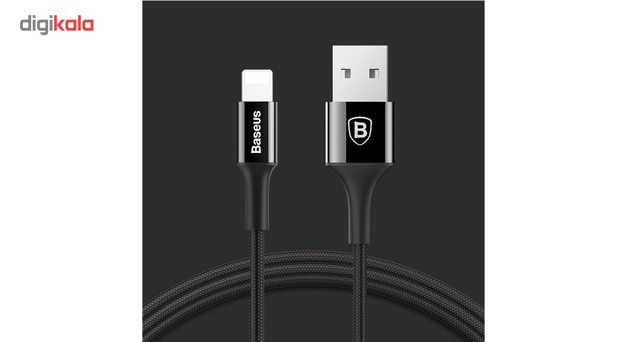 کابل تبدیل USB به لایتنینگ باسئوس مدل Shining Cable Jet Metal به طول 1 متر main 1 2